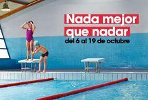 #nadamejorquenadar / Disfruta de tu pasión por la natación, porque todos sabemos que #nadaesmejorquenadar. ¡Desconecta y olvídate de todo! ¡Nada!