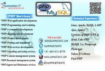 Offshore PHP Development- Outsource PHP Development- Hire PHP Developers / We are #PHP #MySQL developers company based in India. #Offshore your #PHP #web development projects to us and stay relaxed we will develop it for you. To know more reach us www.summationit.com