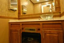 Luxury Restroom Trailers / Rich Luxury Restroom Trailers for Weddings, UpScale Gatherings, and Events.