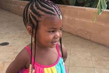African kids hairstyling