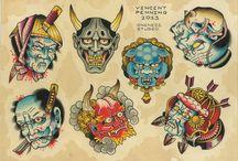 japanese mask tattoo