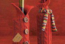 Bottiglia ricoperta lana