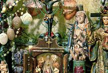 Religious Art ~ Altars / Personal altars created by contemporary religious folk artists / by Greg LeFever