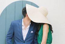 wedding w hat
