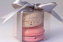 French Macaron Wedding Favours / french macaroon favours