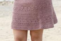 Hačkovaná sukňa