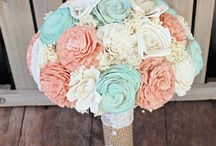 Mint 'n Peach Wedding