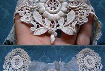 lace, veil, handmade