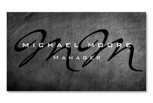 Chalkboard Background Business Cards