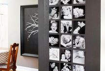 Photo frames. / Collection and ideas for all kind of photo frames. Multi picture frames, white picture frames, wood frames, wooden frames, black photo frames, gold photo frames.