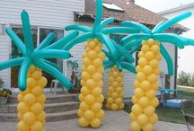 Tropical and Luau Balloon Decor / Dreaming of the beach?  Palm trees in Chicago in February?  Sure!  Want more? Visit www.balloonsbytommy.com