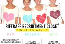 RIFFRAFF RECRUITMENT CLOSET / by Leah Nichols
