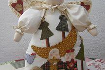 muñecos navidad y patchwork
