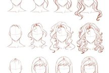 Frisuren zeichnen