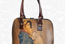 Hand painted leather products / Original hand-painted leather products for ladies and women of genuine Italian leather - painted by foreign artists. Fashion collection of genuine leather