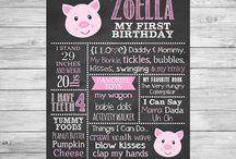 Piglet , Little Pig Birthday