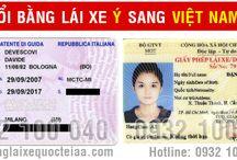 Đối bằng lái xe Ý (Italia) sang Việt Nam
