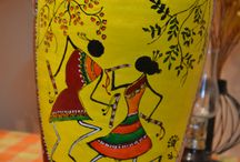 Peace pot project / Gift a peace pot this new year...make peace with someone, gift your friends or gift yourself a hand painted terra-cotta pot..choose your fav color and print from our interesting and creative range of hand painted peace pots:-)