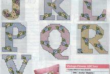 Cross stich letters