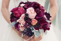 Crimson/Purple/Burgundy Bouquets