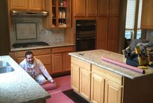 Cabinet Makeover / Refinishing Oak Cabinets
