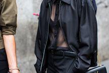 Garment: blouse, drapey, satin