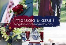 Weeding/ Azul Navy e Marsalla