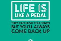 Cycling quotes / Great and inspirational cycling quotes for cycling lovers. Motivation for urban bikers and all people who love to ride the bikes.