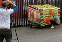 Yarnbombing, crochet and knitted graffiti and street art