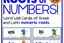 Greek and Latin Roots for Math / Greek and Latin Root Words for math