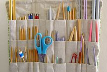 Organise your knitting / Ways to organise your knitting tools and accessories, knitting projects and yarn.