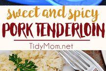 Beef + Pork + Chicken Recipes / Easy delicious beef, pork and chicken recipes.