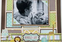 Baby Boy And Girl Scrapbook Layout Ideas