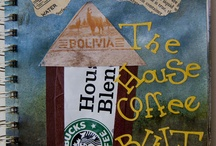 My Re-Purposed Starbucks Art Journel Pages  / I use Starbucks Coffee bags in every page...