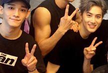 EXO / who's my bias? i dont even know. is it baekhyun? i think so... oh hi jongin. minseok. kyungsoo. sehun... you're all bias wreckers help