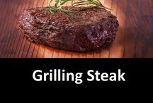 Grilling Steak / Nothing is better than steak and potatoes. Why not go out of the box and try out plank grilling steak? It adds great flavor and keeps the steak moist, too!