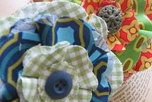 Create: Flowers-fabric/paper/misc / by Sarah Hamacher