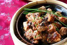 Por spare rib with black bean sauce