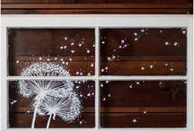 Fenster Bilder Kreidestift