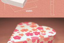 krabičky- šablony