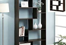 Wooden Tall Bookcase Shelving Storage Unit