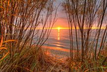 tramonto e alba