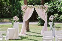 Spring wedding in light pink and ivory