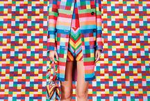 #designTrend | rainbow geometry / by Katie Hatch