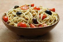 Recipes - Meatless Main Dishes / Main course recipes and meal ideas that do not include meat...but maybe fish. :-)