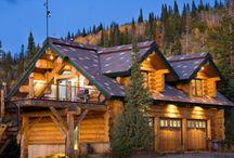 Дом мечты / Дома из красного канадского дерева! Моя мечта. Я построю своей семье подобный дом.