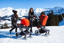 "PRIAM on skis / For one week the PRIAM took a trip to some wonderful family friendly ski resorts (Avoriaz and Morzine) to promote this cool new accessory, the ""PRIAM ski"" ! / by CYBEX"