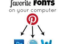 letters & fonts