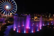 The Island in Pigeon Forge / The Island is the latest retail and entertainment center to join Pigeon Forge. There are a number of restaurants, stores, and attractions to enjoy, including the, Great Smoky Mountain Wheel. As an added bonus there's LIVE entertainment each day!