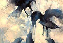 акварель. животные, птицы